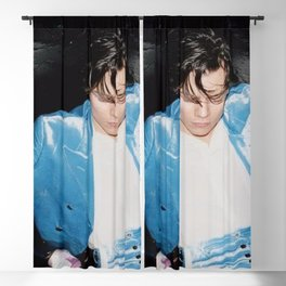 harry blue Blackout Curtain