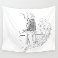 angel wings Wall Tapestries featuring Wings by Alessandro Spedicato