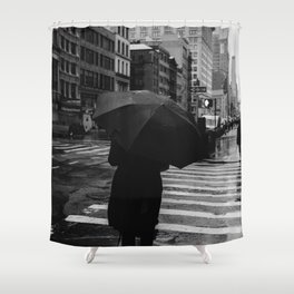 Rainy New York IX Shower Curtain