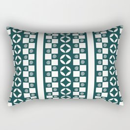 PATTERNED STRIPE, TEAL Rectangular Pillow