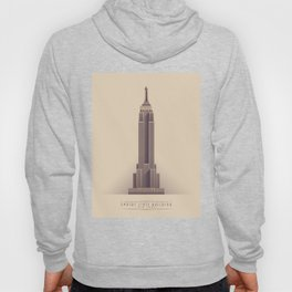 Empire State Building New York Art Deco - Vintage Light Hoody