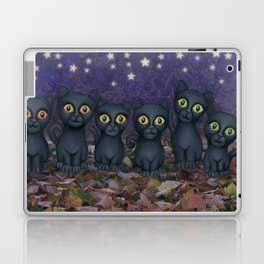 black cats, stars, & moon Laptop & iPad Skin