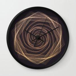 Geometric Rose Wall Clock