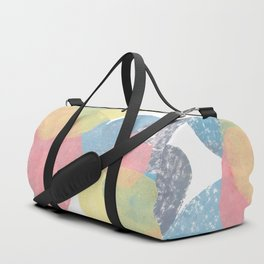 Happy Cairn Graphic Abstract Print Duffle Bag