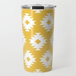Southwestern Pattern 424 Yellow Travel Mug