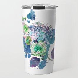 Bouquet in Blue Travel Mug