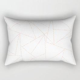 rose gold triangle pattern Rectangular Pillow