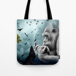 Gorilla discovers crows by GEN Z Tote Bag