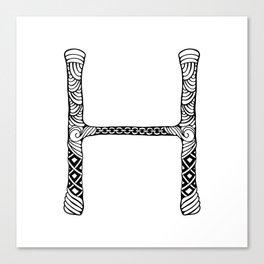 Monogram letter H Canvas Print