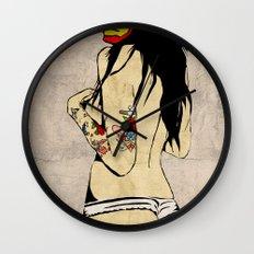 Iron Girl Wall Clock