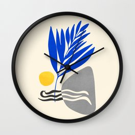 Landscape In Blue Wall Clock