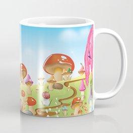 Mushroom fields panorama Coffee Mug