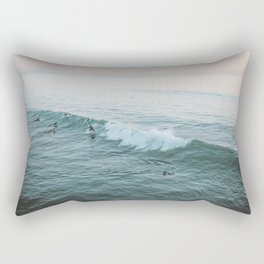 Let's Surf V Rectangular Pillow