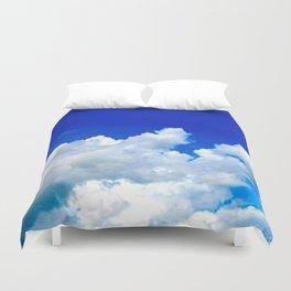 Clouds in a Clear Blue Sky Duvet Cover