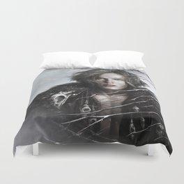 Black Wolf Fur Duvet Cover