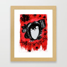 Death Penguin Framed Art Print