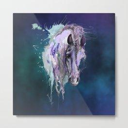 Purple Horse Metal Print