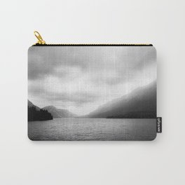 Landscape Photography | Waterton Lake | Alberta | Foggy | Clouds | Sky  Carry-All Pouch