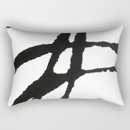 0523: a simple, bold, abstract piece in black and white by Alyssa Hamilton Art Rectangular Pillow