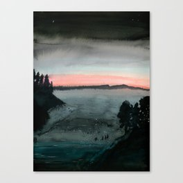 Night Swimmers Canvas Print