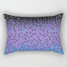 Night Stars: purple and blue Rectangular Pillow