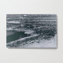 Floating Icebergs of Hubbard Glacier Alaska Metal Print