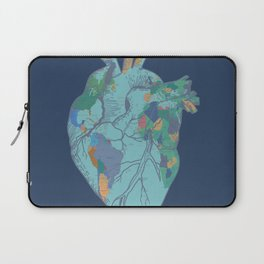 love to travel-world map 2 Laptop Sleeve