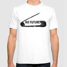 No Future Mens Fitted Tee SMALL White