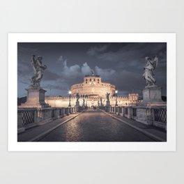 Castel Santangelo in Rome Art Print