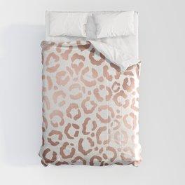 Chic Rose Gold Leopard Cheetah Animal Print Comforters