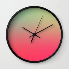 PARTY LIGHTS - Minimal Plain Soft Mood Color Blend Prints Wall Clock