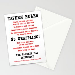 Tavern Rules Stationery Cards