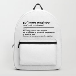 Software Engineer definition Backpack