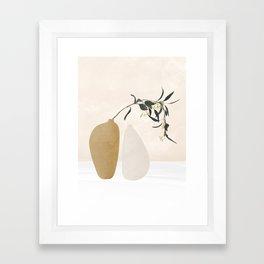 Couple Of Vases Framed Art Print