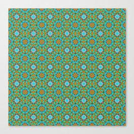 Moroccan Tile 1A - Blue Canvas Print