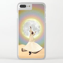 Whirling Dervish Clear iPhone Case