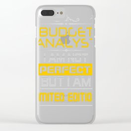BUDGET-ANALYST Clear iPhone Case