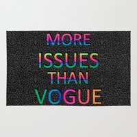vogue Area & Throw Rugs featuring More Issues Than Vogue by Luna Portnoi