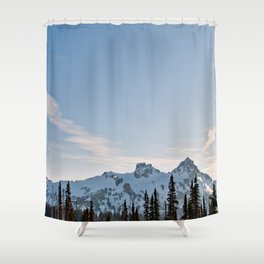 Mountain Ridge in the Sun Shower Curtain