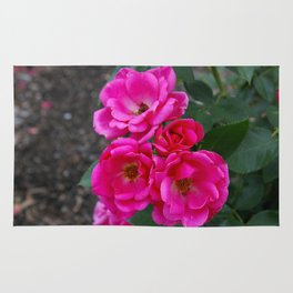 Pink Rose Bunch Rug
