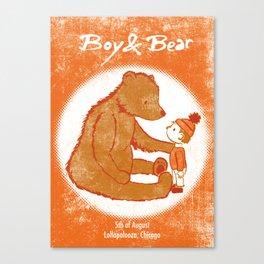 Boy & Bear Gigposter Canvas Print