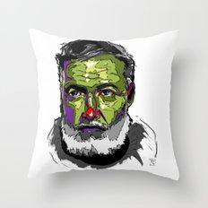 E. Hemmingway Throw Pillow