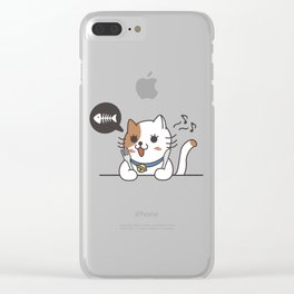 HUNGRY CAT Clear iPhone Case