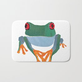 Tree Frog, Collage Bath Mat