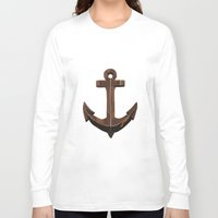anchors Long Sleeve T-shirts featuring Anchors Away! by eMJay Digital Art