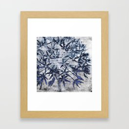 blue stars Framed Art Print
