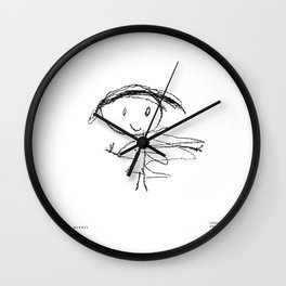 [happy mommy] - nadya 4 yr Wall Clock