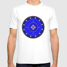 Fleuron Composition No. 122 White Mens Fitted Tee MEDIUM