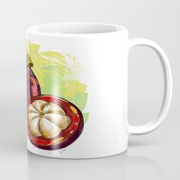 vietnam Mugs featuring Vietnam Mangosteen by Vietnam T-shirt Project