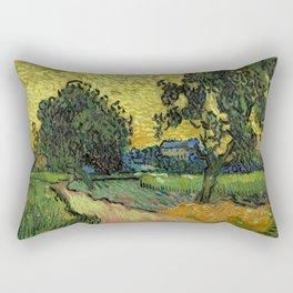 Vincent Van Gogh : Landscape at Twilight Rectangular Pillow